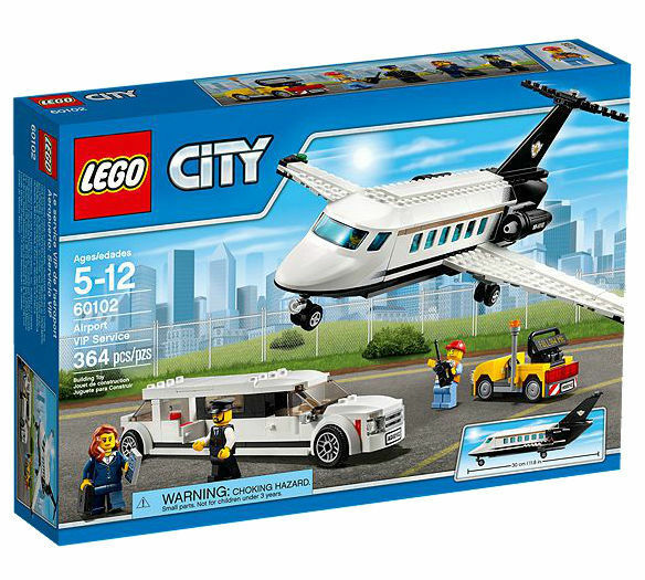 Lego City 60102 AIRPORT VIP SERVICE Limousine Plane Cargo NISB