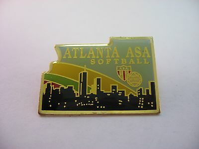 Baseball & Softball Atlanta Asa Softball Selten Sport Pin-flagge Moderater Preis