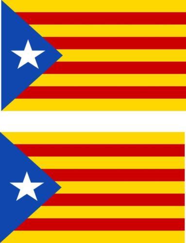 2x Aufkleber Auto Catalunya Flagge Catalan Unabhängige