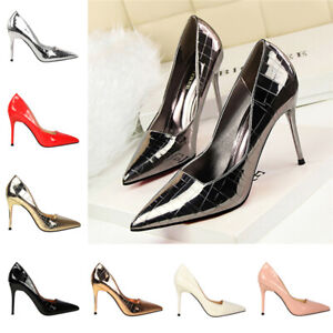 Long Pointed Toe 5/'/' Super High Heels Womens Nightclub Pumps Fashion Party Shoes