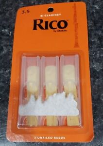 RCA0325 NEW Factory Sealed Pack Rico Clarinet 3-pack Reeds Strength #2.5