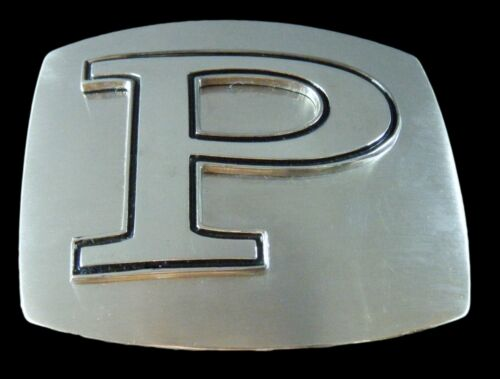 LETTER P INITIAL BELT BUCKLE NAME  LETTERS MONOGRAM JEWELRY BOUCLE DE CEINTURE