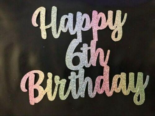 Rainbow Custom Cake Topper 7th Birthday Any Name//Age Personalised FREE UK P/&P