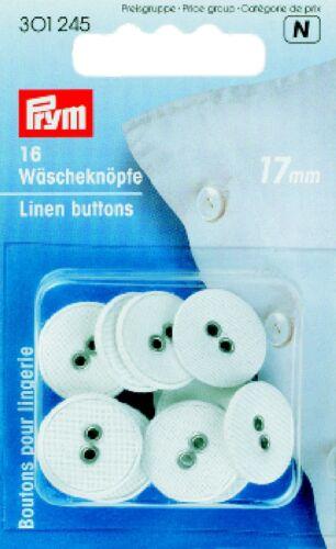 16 colada botones lino 17mm Koch-u deficiencia firmemente prym 301245