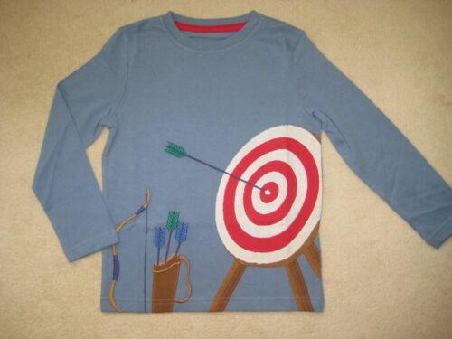 Mini Boden Appliqué T-Shirt Haut 2-12 ans Archery Bow /& Arrow