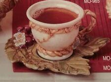1 Giessform für Keramik MO-968  Batt Weinlaub-Unterteller  18 x17 cm