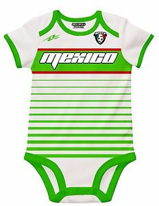 233fc6c57f1 Mexico White Soccer Baby Outfit Mameluco New W O Tag Sizes 3 to 12 ...