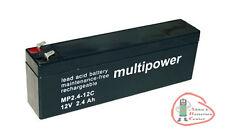 1 x Multipower MP2.4-12C Accu de cycle 12 V / 2,4 Ah