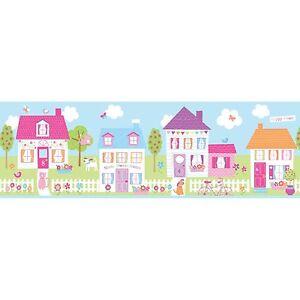 Self Adhesive Peel /& Stick Wallpaper Border 269 Happy Street Fun4walls