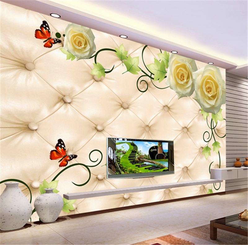 3D Flower Butterfly Paint 7 Wallpaper Mural Paper Wall Print Wallpaper Murals UK