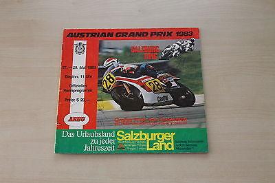 Sales Brochures Austria Österreich Grand Prix Prospekt 1983 Removing Obstruction Precise 167312