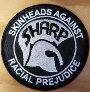 SHARP Skinheads Against Racial Prejudice FREE SHIPPING! Iron On Patch
