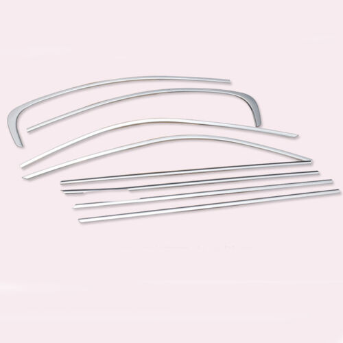 8PCS Stainless Steel Window Sill Covers Trim Kit Fit For BMW 3 Series E90 06-12