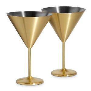 VonShef-Set-of-2-Stainless-Steel-16oz-Brushed-Gold-Martini-Cocktail-Glasses
