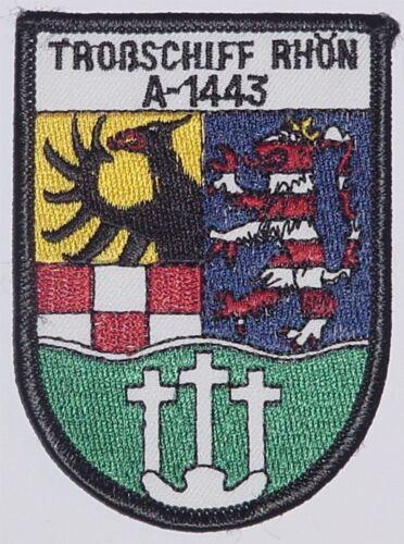"""Aufnäher Patch Abzeichen Marine Troßschiff /""""Rhön/"""" A1443 ..........A3491"""