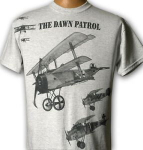 The-Dawn-Patrol-WW1-WWI-Airplane-T-shirt-with-Fokker-Albatross-and-Spad