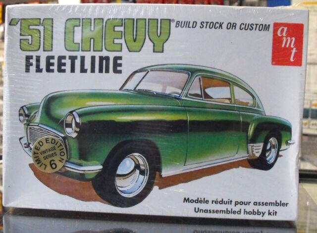 AMT 8250 1 25 Model Kit 1951 Chevy Fleetline Stock Street Custom Amt8250