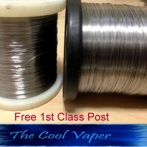 SS-316L-amp-Kanthal-Wire-22-to-34-AWG-gauge-0-16-0-64mm-2m-to-100-mtrs-Vape-Wire