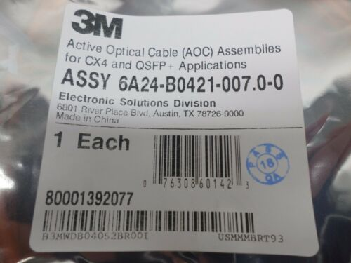 New 3M CX4 and QSFP Active Optical Cable