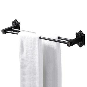Bathroom 20 Inch Double Towel Bar Holder Rack Shelf Wall Mount Oil