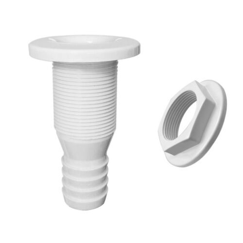 "3//4/"" Plastic Thru-Hull Bilge Pump Drain or Vent Hose Fitting for Boats"