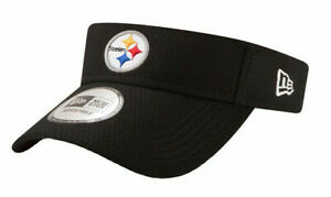 PITTSBURGH-STEELERS-NFL-EQUIPMENT-BLACK-NEW-ERA-SIDELINE-VISOR-CAP-HAT-NWT