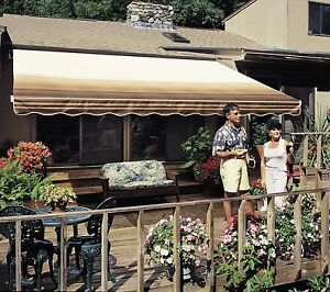12 Ft Sunsetter Vista Retractable Awning Manual Outdoor