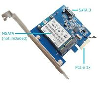 MSATA 3 SSD y SATA 3 III a la PC PCI-E III tarjeta de expansión Convertidor Adaptador Board