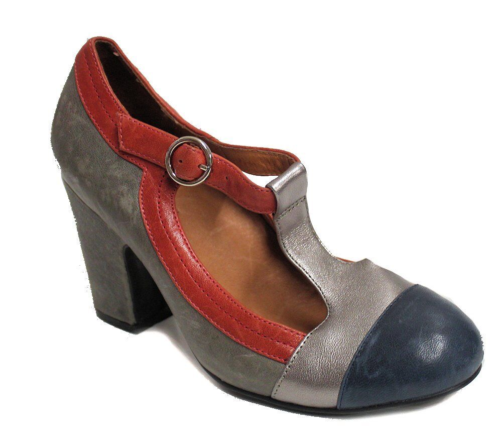 Jeffrey Campbell Women's Polina Pump US 6.5 bluee Red Silver NOB
