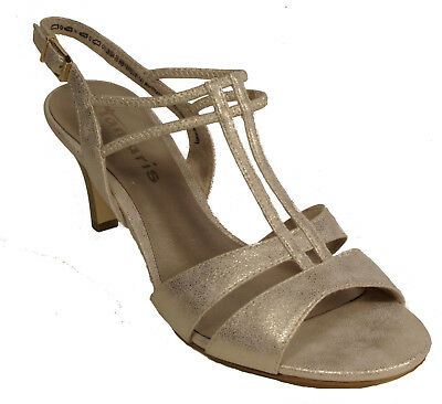 TAMARIS Schuhe Sandalen Riemchen Sandaletten gold metallic high heels NEU | eBay