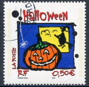 Fiable Stamp / Timbre France Oblitere N° 3713 Halloween Couleurs Harmonieuses