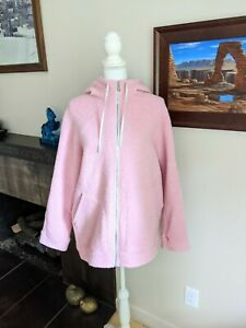 Lululemon Women's 12 So Sherpa Hooded Jacket Wool Blend Coat Heathered Pink Haze