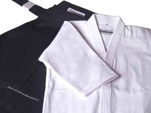 Gi und Hakama Set schwarz//weiß für Kendo Iaido Aikido