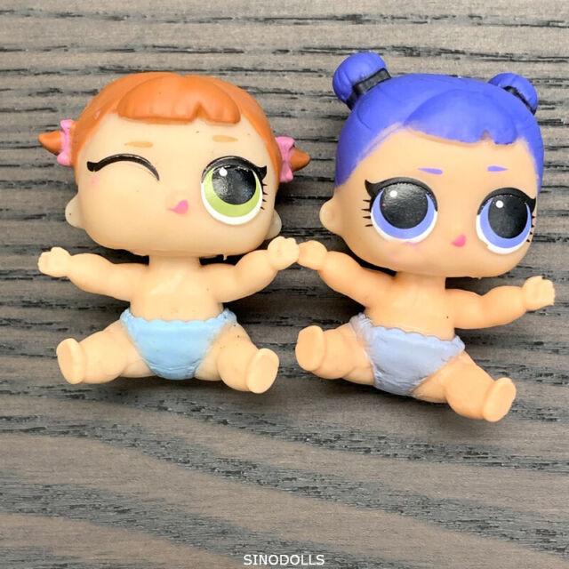 2x LOL Surprise Dolls Series 2 Lil Little Sisters Swing /& GLITTER QUEEN  mbjus