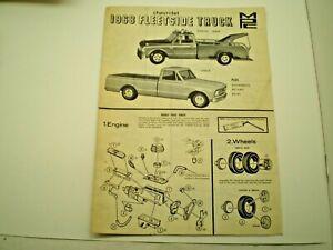 MPC-1968-Fleetside-pick-up-Original-Model-Car-Instruction-sheet-L-K
