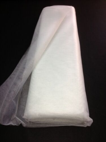 Soft tulle wedding baptism pearl light grey per metre wide 300 cm
