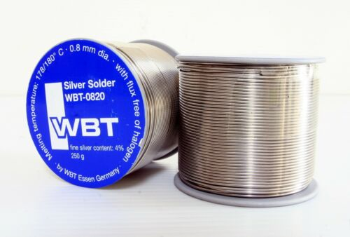 WBT 0820 0.8mm 4/% Ag silver Solder 1meter for speaker amplifier