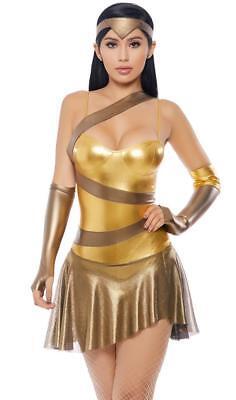 Like Its Golden Costume C3PO Droid Metallic Bodysuit Catsuit Gloves 557735