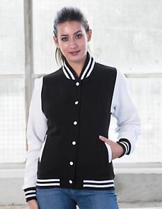 Damen-Varsity-College-Jacket-Druckknopfverschluss-Just-Hoods