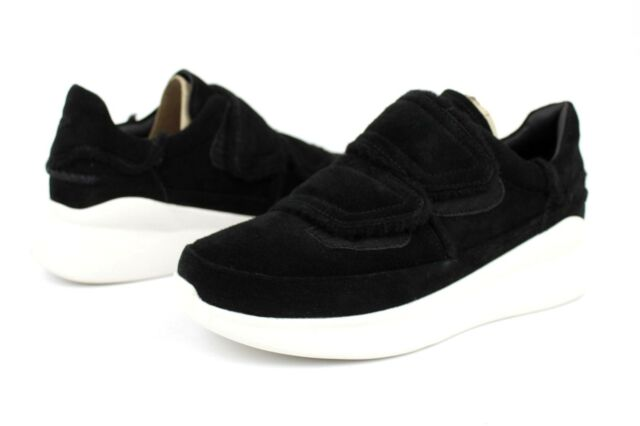 36019829552 UGG Ashby Spill Seam Suede Sneaker Shoes Black US Size 9 Womens