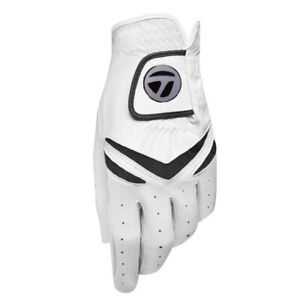 TaylorMade-Stratus-All-Leather-White-Golf-Glove-Magnetic-Ball-Marker-Pick-Size