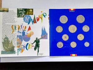 ESPANA-set-Coleccion-de-las-10-Monedas-de-curso-legal-del-ano-1992-Proof
