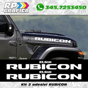Kit-2-adesivi-loghi-JEEP-WRANGLER-RUBICON-4x4-fuoristrada-stickers-off-road