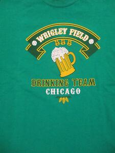 L-green-WRIGLEY-FIELD-DRINKING-TEAM-t-shirt-by-GILDAN-CHICAGO