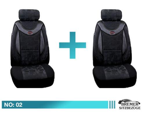 VW TIGUAN I/&II Maß Schonbezüge Sitzbezüge Autositzbezüge Fahrer /& Beifahrer 02