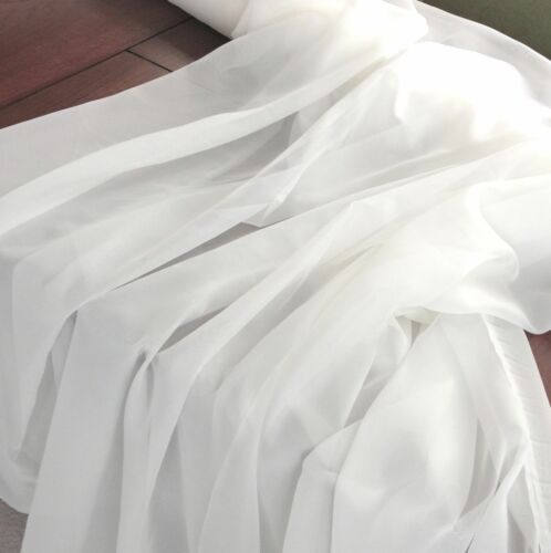 "10 Yards 120/"" Wide Voile Chiffon Fabric Sheer Draping Drape Panel Dress Wedding"