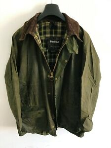 Mens-Barbour-Beaufort-wax-jacket-Green-coat-42in-size-Large-Extra-Large-L-XL-5
