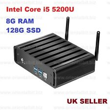 Intel Core i5 5300U Windows 10 Pro Fanless Mini PC with WiFi Mini PC 8G/128G UK