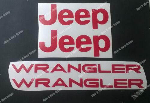 JK  Jeep Wrangler letters replacement fender vinyl sticker Decals for TJ XJ