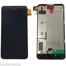 TOUCH SCREEN VETRO PER NOKIA 630 635 VETRINO CON CORNICE DISPLAY LCD ASSEMBLATO